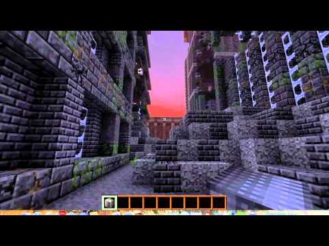 Minecraft Cure Zombie Adventure map Huge ruined city