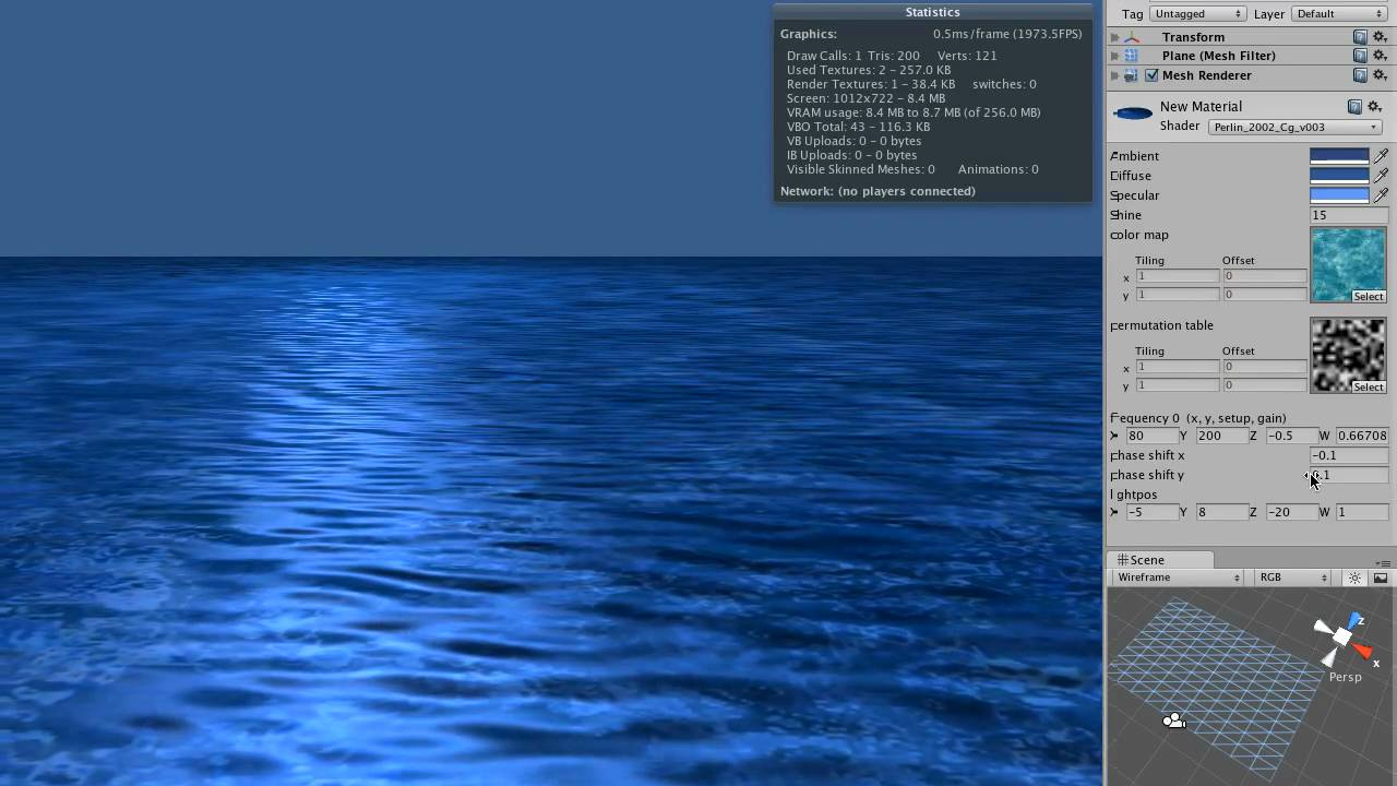 Unity3D Shader - Generating Water Textures with Perlin Noise 2 (with  displacement)