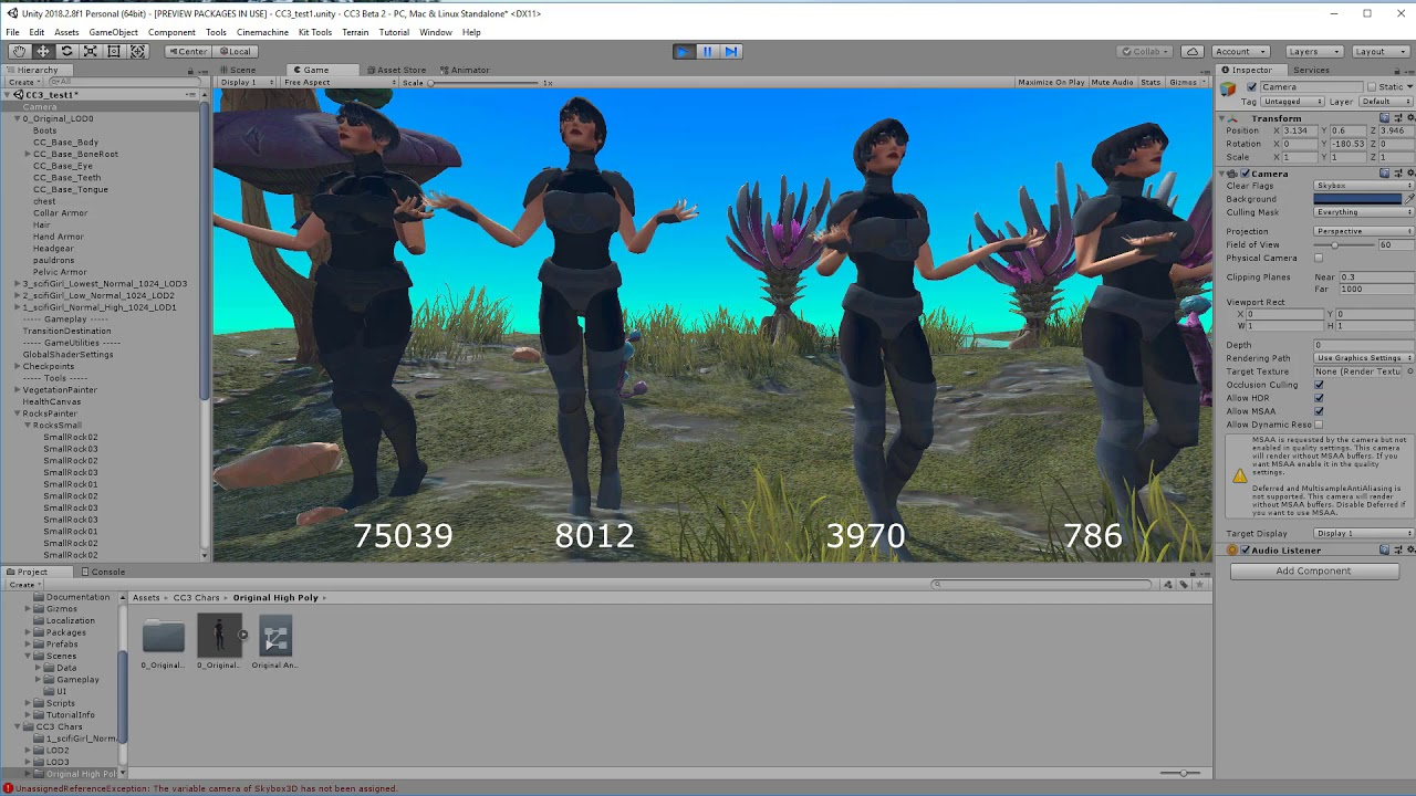 InstaLOD Integration - Part 2: Game Character LODs - Renderosity