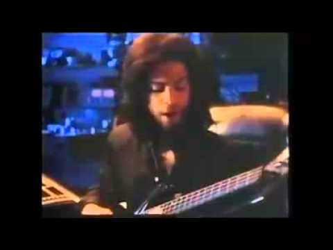 Prince recording session bass track for batman footage