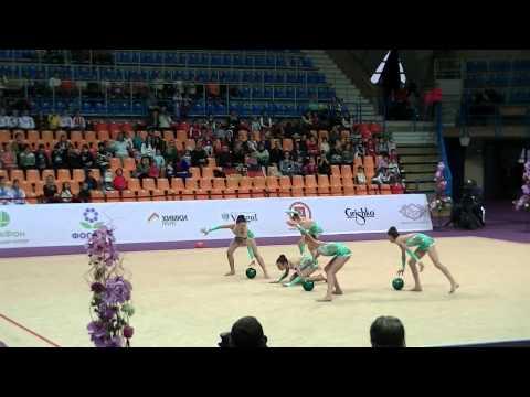 Team BUL juniors 5 balls Grand Prix Moscow RG 2015 All around (1)