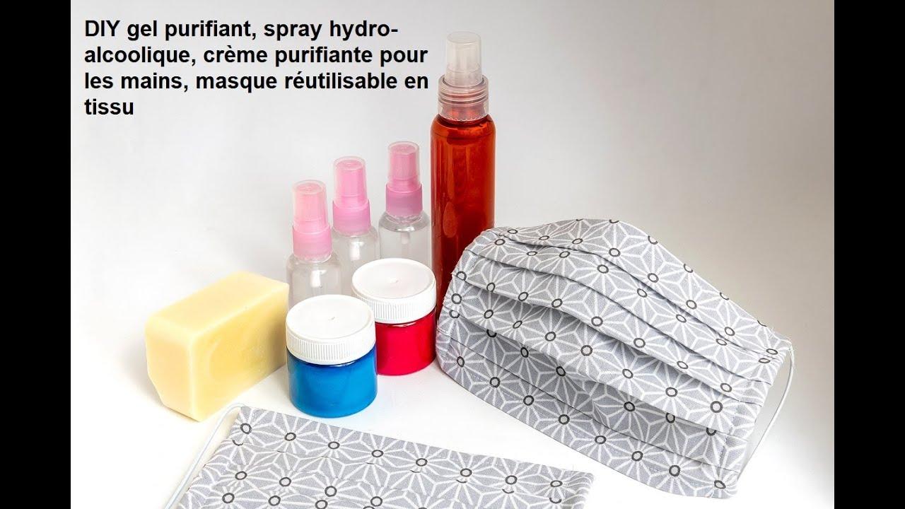 Diy Gel Desinfectant Bio Spray Hydro Alcoolique Et Masque