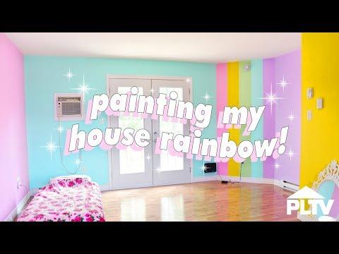 🌈🏠 PAINTING MY HOUSE RAINBOW 🏠🌈
