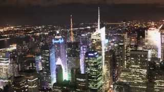 Top of the Empire State Building by night