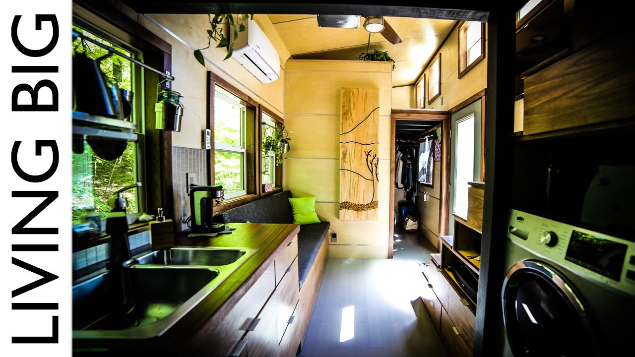 Astounding Tiny House With Downstairs Master Bedroom Youtube