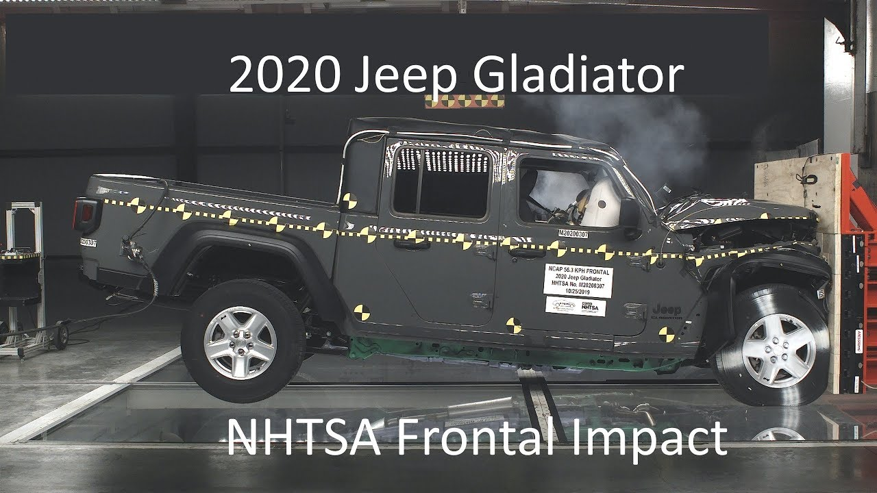 20202021 jeep gladiator nhtsa frontal impact  youtube