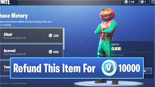 Comment REFUND Articles / Cosmétiques pour VBUCKS - Fortnite (BUTTON NOT SHOWING UP FIX) Ps4/Xbox