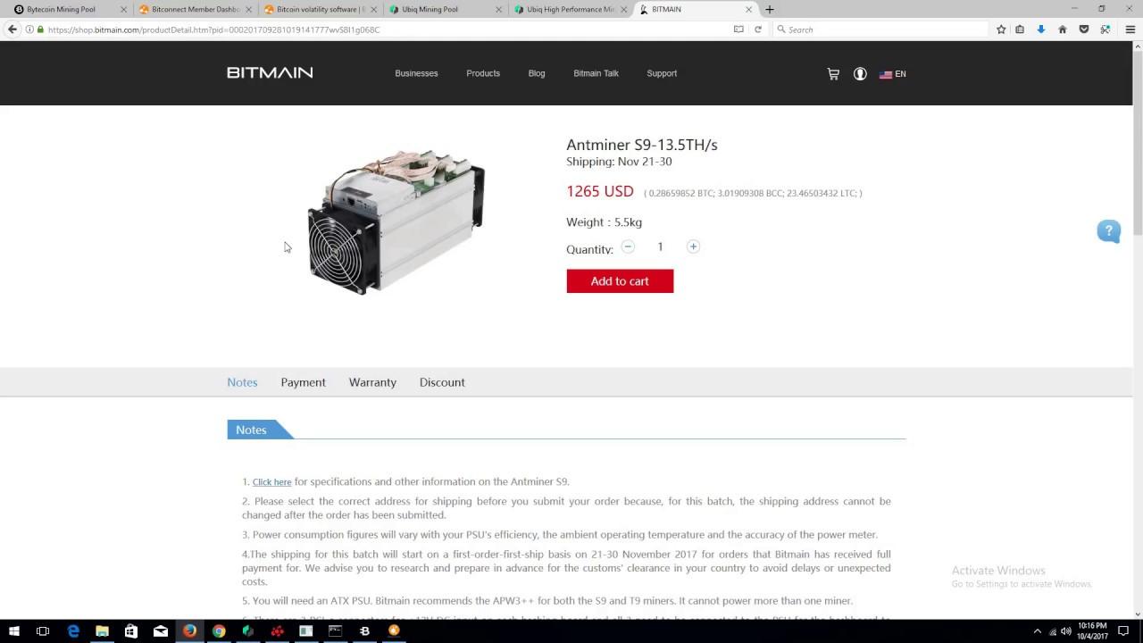 Mineral Antminer S9 Minergate Dashboard Hashrate