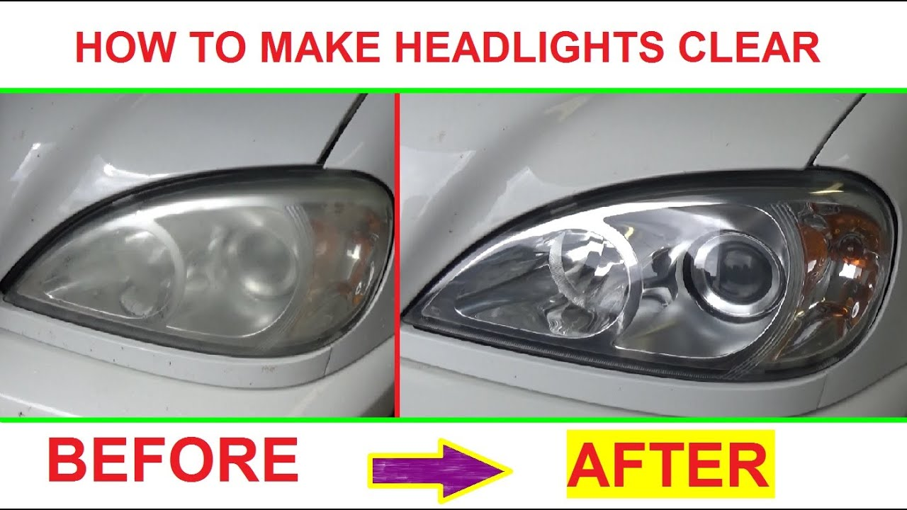 how to get headlights clear