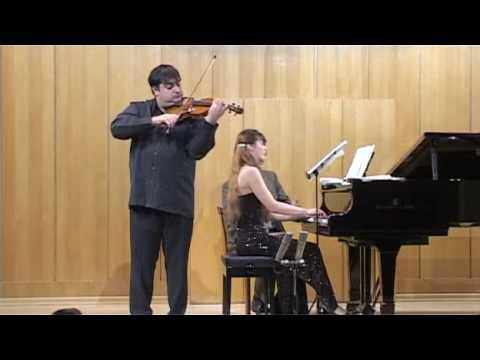 Paganini's Caprice No. 24 (Szymanowski). Graf Mourja (violin), Natalia Gous (piano)