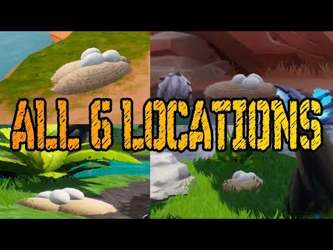 ALL 6 SEARCH WATERSIDE GOOSE NESTS LOCATIONS SEASON 7 (14 Days Of Fortnite Challenge)