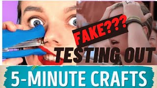 TESTING OUT 5 MINUTE CRAFTS- BACK TO SCHOOL  |5 MINUTE CRAFTS | NJ ARTZ