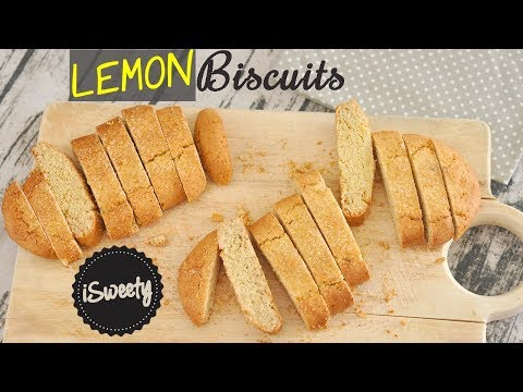 NO Butter LEMON Biscuit [Easy Italian COOKIES Recipe]