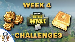 Fortnite Week 4 Challenges- Vehicle Tower, Rock Sculpture, Circle of Hedges & Ice Cream Truck & More