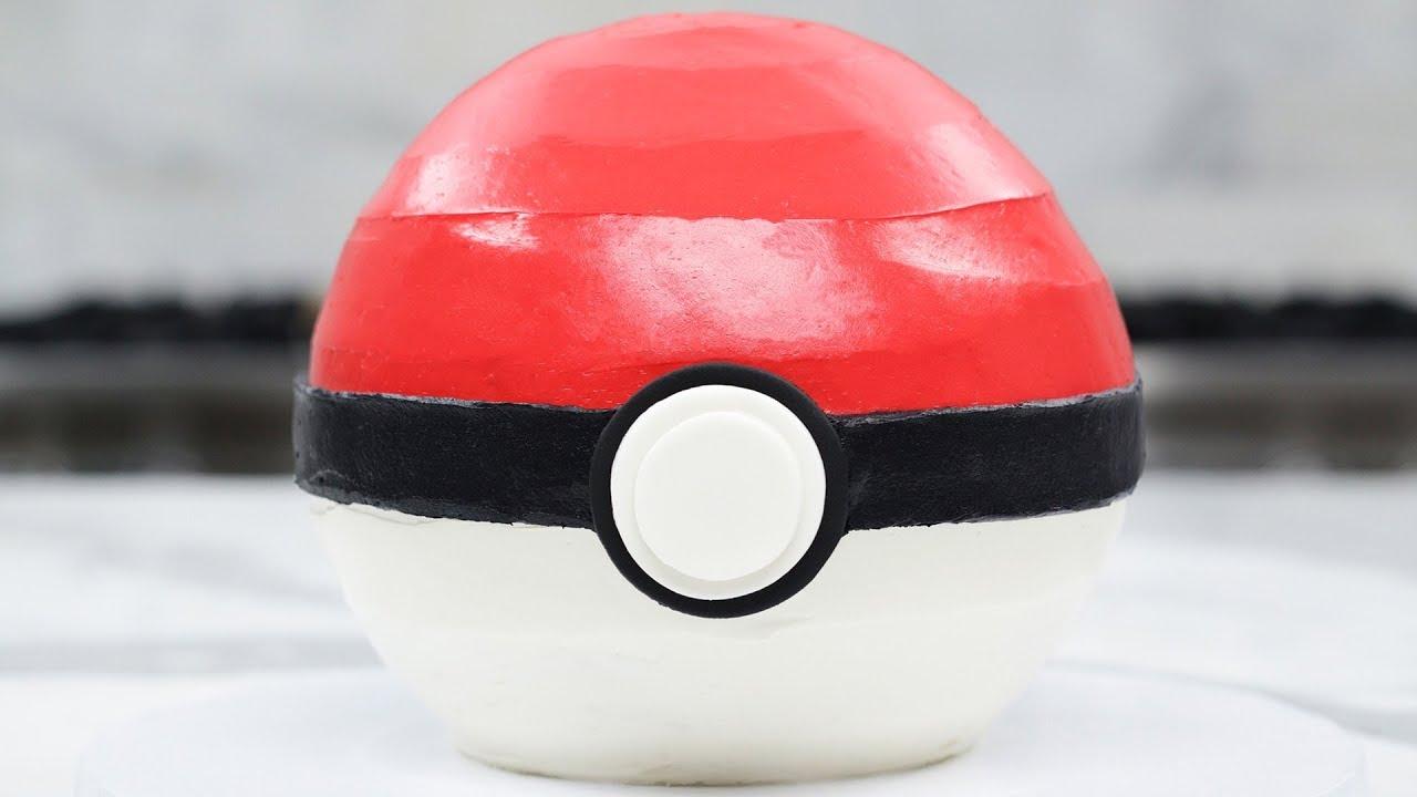 Pokemon Poke Ball Cake Nerdy Nummies Youtube