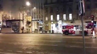 Pompier de PARIS  Incendie CHAMPS ELYSEES PARIS FIRE IN CHAMPS ELYSÉE Paris fire dept on scene