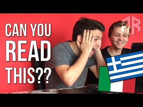Can You READ These Hard ITALIAN and GREEK TONGUE TWISTERS? (