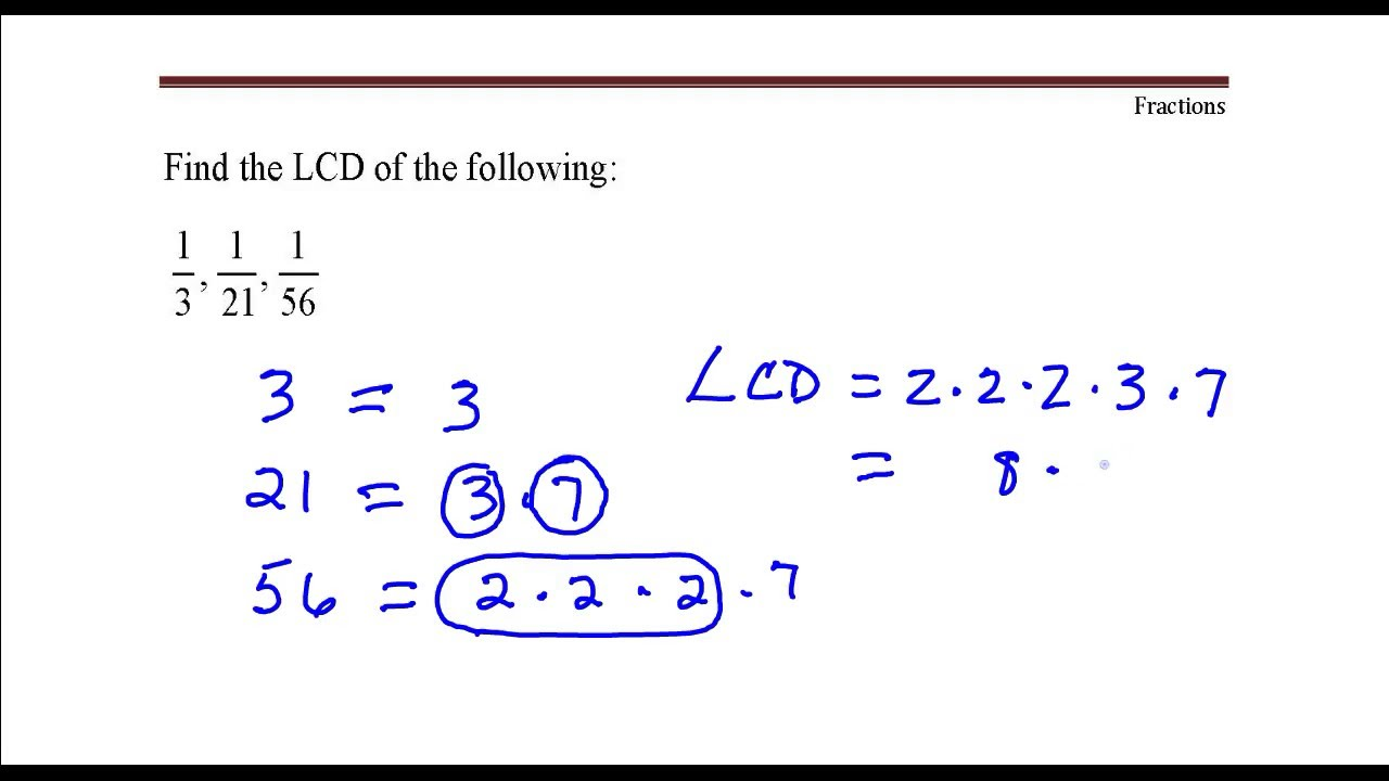 How to find fractions 50