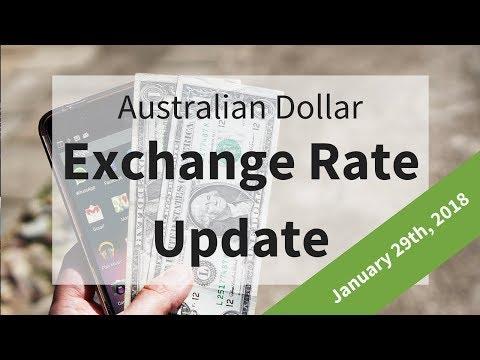 Australian Dollar Exchange Rate Update: January 29th, 2018