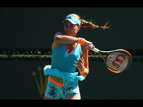 2017 BNP Paribas Open Third Round   Kristina Mladenovic vs Simona Halep   WTA Highlights