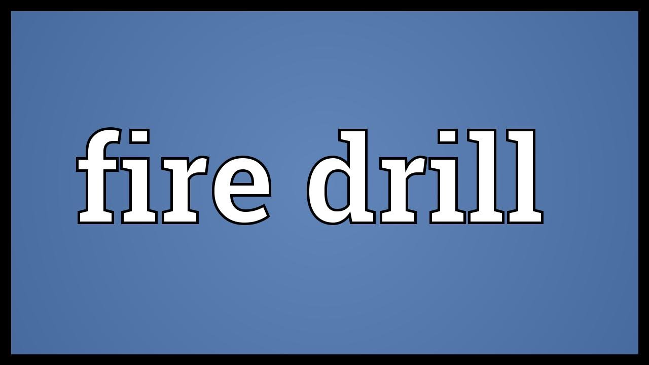 fire drill The bow drill is a prehistoric form of drilling tool it commonly was used to make friction fire, and in this function it also was called a fire drill however, the.