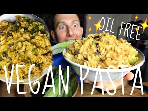 Creamy Vegan Squash Pasta🍝• MUKBANG + RECIPE