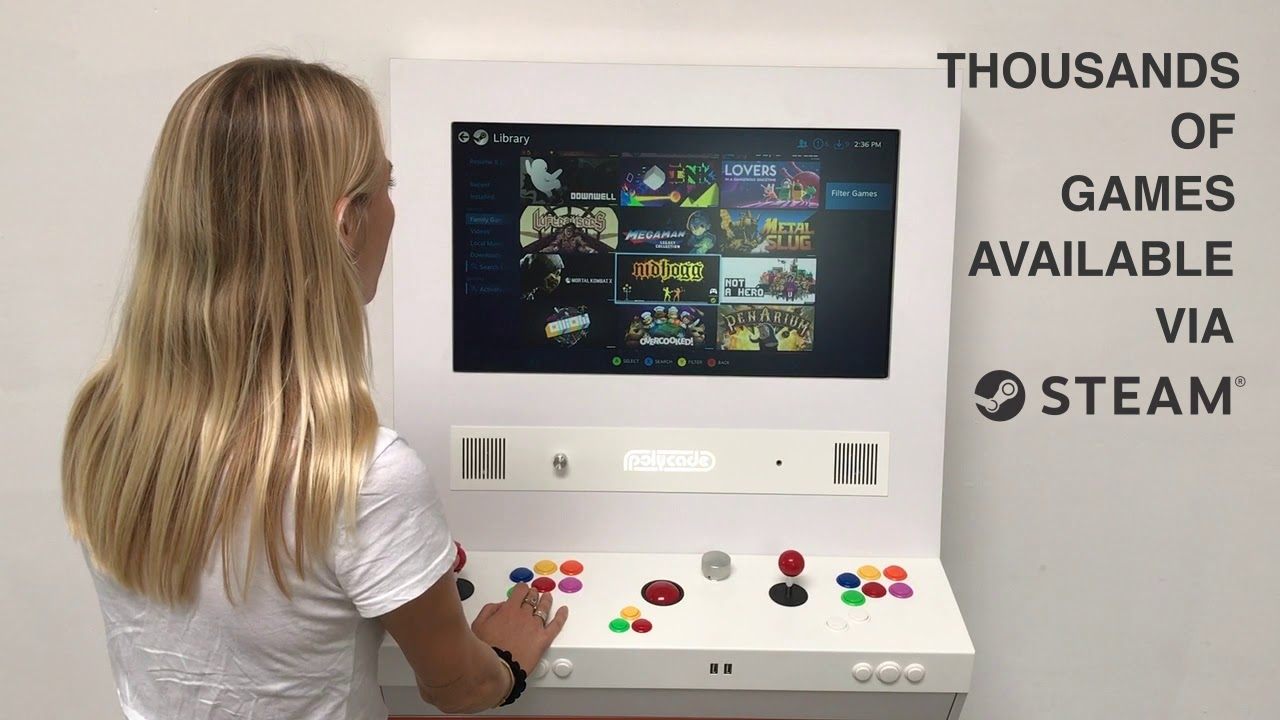 The Polycade Pro is a Wall-mounted All-in-one Gaming Machine