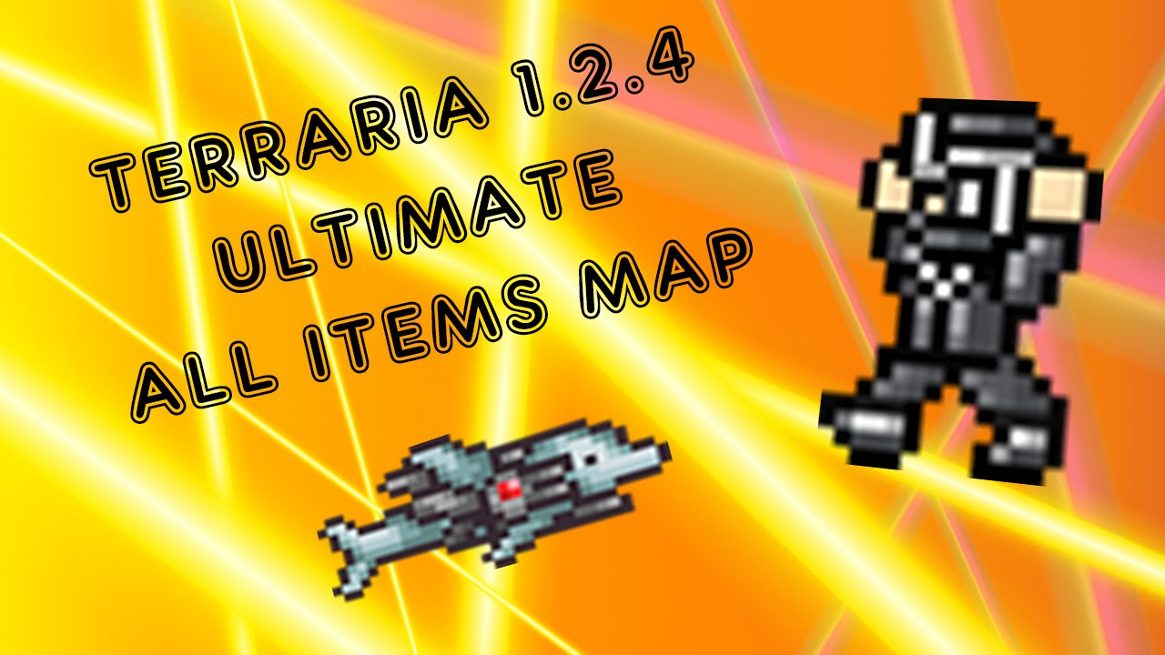 Terraria 1 2 4 ultimate all items map download 7 5k subscribers