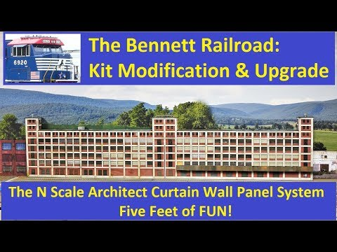 Kit Modification Series: N Scale Architect Curtain Wall Panel System