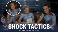 """Demi, STOP IT!""   Shock Tactics   Steph Houghton, Jill Scott & Demi Stokes"