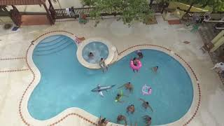 Pool party with Phantom 3 Professional