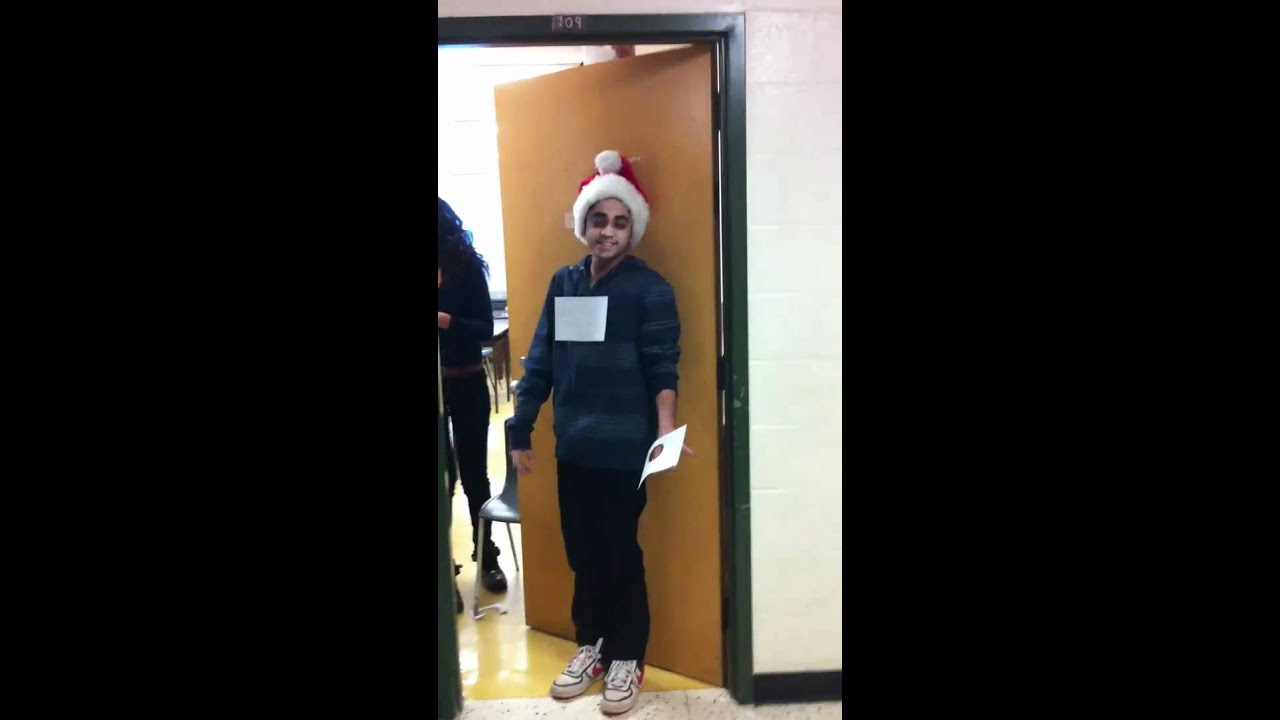 sc 1 st  YouTube & Funniest and Most Creative Christmas Door Decoration at School - YouTube