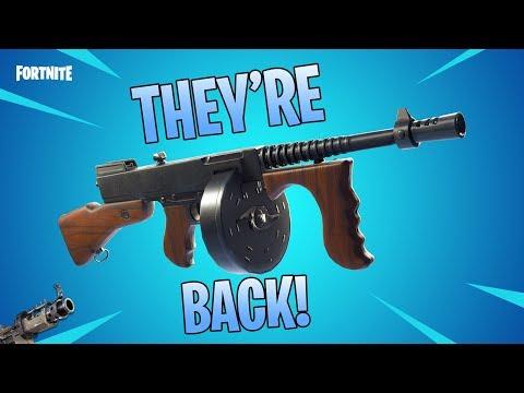 🔴 THE DRUM GUN & TAC SMG ARE BACK!!! Fortnite 8.01 Update 🔴