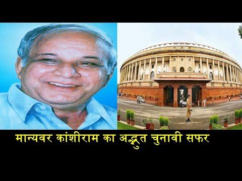 POLITICAL JOURNEY OF KANSHIRAM/मान्यवर कांशीराम की राजनीति यात्रा
