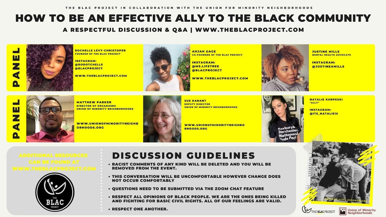 The BLAC Project Presents: How to be an Effective Ally, A Respectful Discussion and Q&A