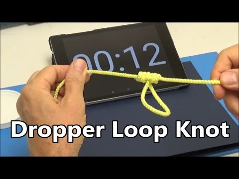 Dropper Loop Knot under 30 seconds | Fishing Knots | Encyclopedia of Knots | Do it right