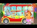 Lion Family 💩 Ride on the Bus Cartoon for Kids