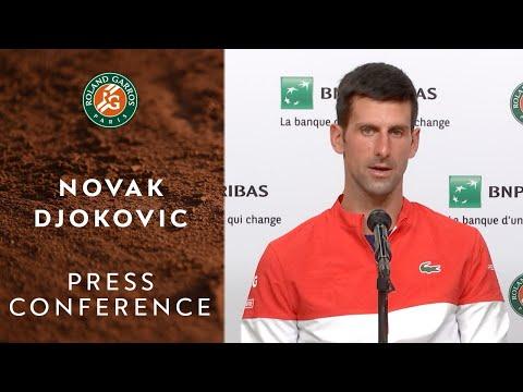 Novak Djokovic Press Conference after Semifinal I Roland-Garros 2021