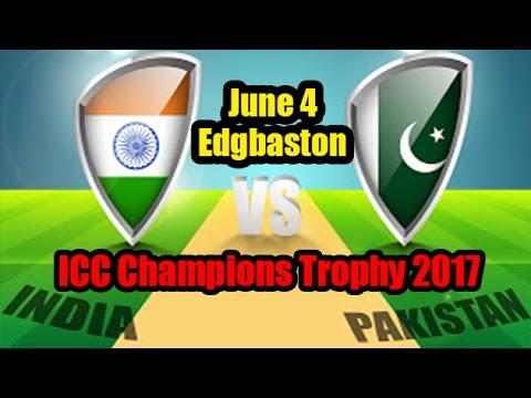 CT17 India Vs Pakistan On June 4 In Edgbaston
