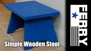 Ⓕ Simple Wooden Stool (ep6)