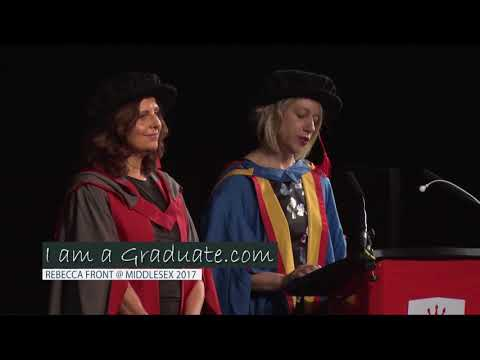 Actress Rebecca Front receives honorary degree from Middlesex University