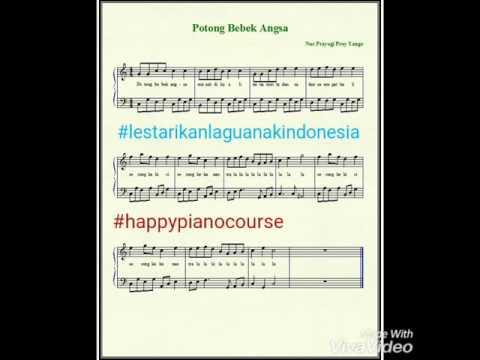 Lagu anak - Potong Bebek Angsa || Partitur not balok piano || by audric (Piano Cover)