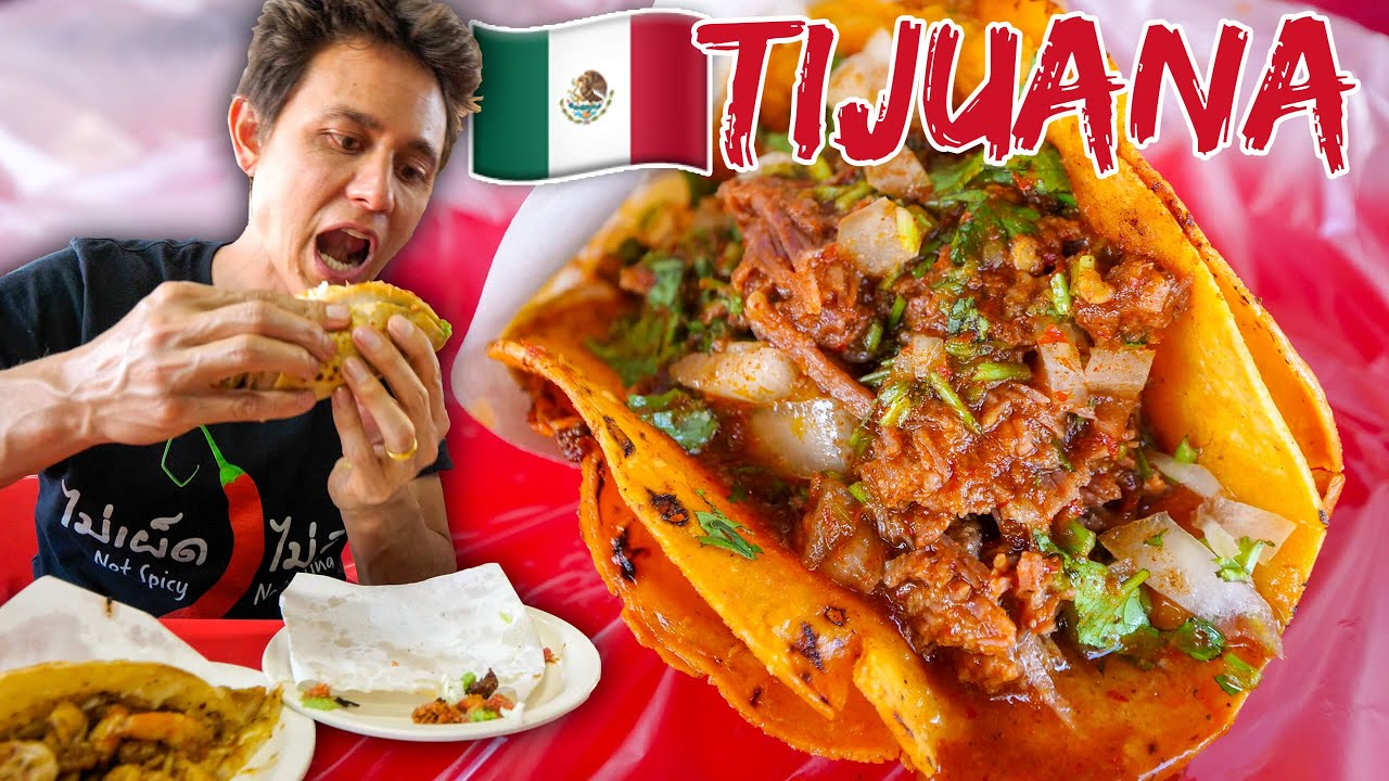 Mexican Street Food in Tijuana ?? INSANE TACOS TOUR IN MEXICO ?(Part 2)