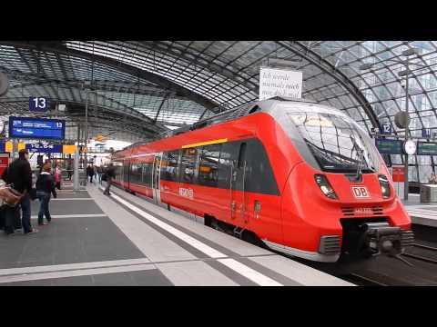 Züge am Hauptbahnhof Berlin (S-Bahn - DB-Bahn)