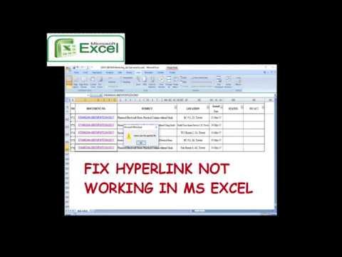 FIX HYPERLINK NOT WORKING IN EXCEL