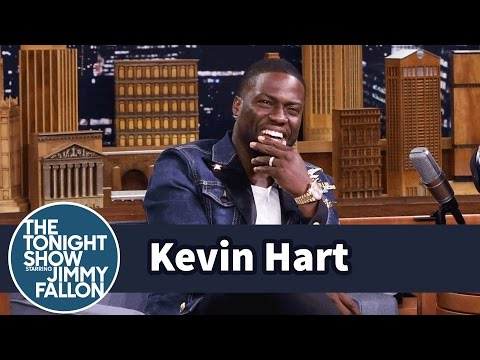 Kevin Hart Walks to Set While Dwayne Johnson Drives