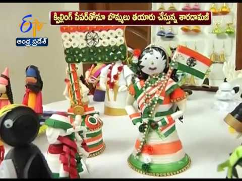 This Nellore Lady Makes Home Decorative Items with Waste Materials