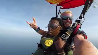 Dj Masha and MadamBoss SkyDives to SoundCheck in Diani Beach Festival
