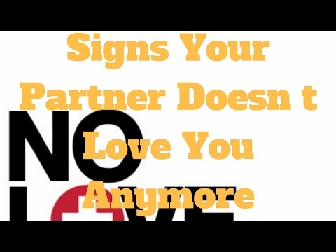 Signs Your Partner Doesn t Love You Anymore