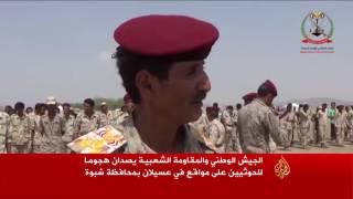 عسكريون تابعون للحوثي وصالح ينضمون للجيش الوطني بمأرب